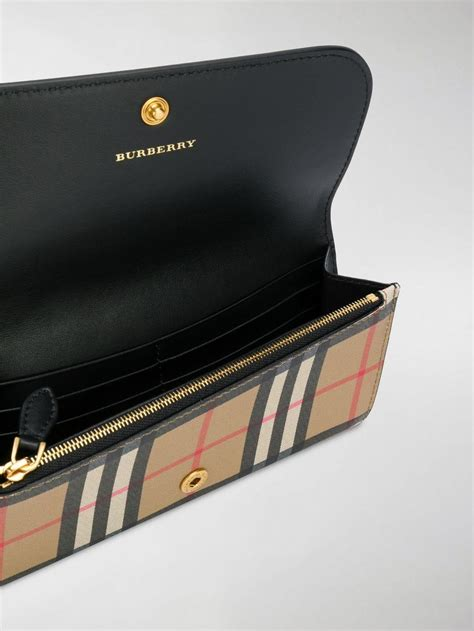 Burberry Leather Vintage-check Continental Wallet in
