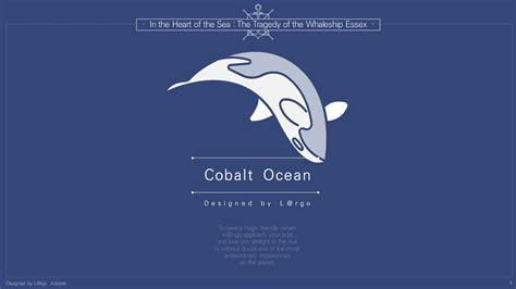 시원한 코발트블루 깊은바다PPT 템플릿 : Cobalt Ocean 파워포인트