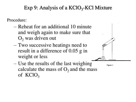 PPT - Exp 9: Analysis of a KClO 3 -KCl Mixture PowerPoint