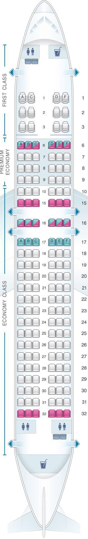 Seat Map Alaska Airlines - Horizon Air Airbus A320 214