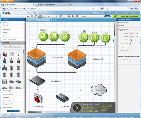 Visio in the Cloud? - Online Diagram Software - Eric Sloof