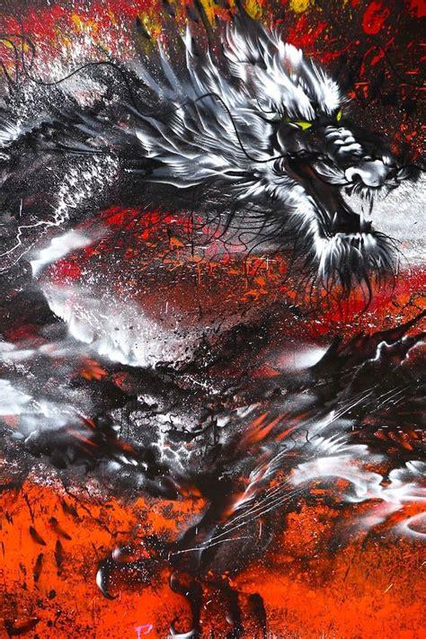 See Artist Hua Tunan Create Awesome Splattered Paint
