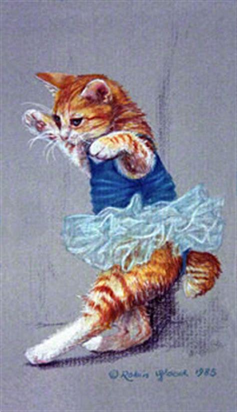 Cat Dancing - Prismacolor Pencil Drawing © Copyright Robin