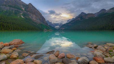 Blue Lake Louise Hamlet In Alberta Canada Banff National
