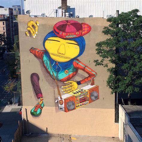 """B-BOY"" STREET ART BY OS GEMEOS IN NYC - The VandalList"
