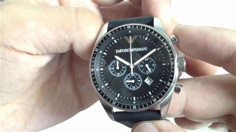 Men's Emporio Armani Black Rubber Strap Chronograph Watch