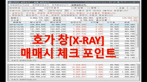 [네이버카페-전업주식고수모임] 호가창[X-RAY]매매시 체크 포인트