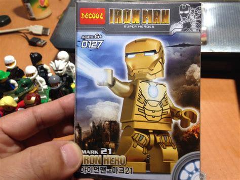 Decool Iron Man mark 21, 아이언맨 레고 피규어 중국산 짝퉁 황금색