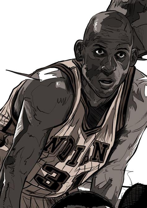 NBA 레전드 일러스트 - Gihoon | 엔비에이, 농구, 마이클조던, 스포츠
