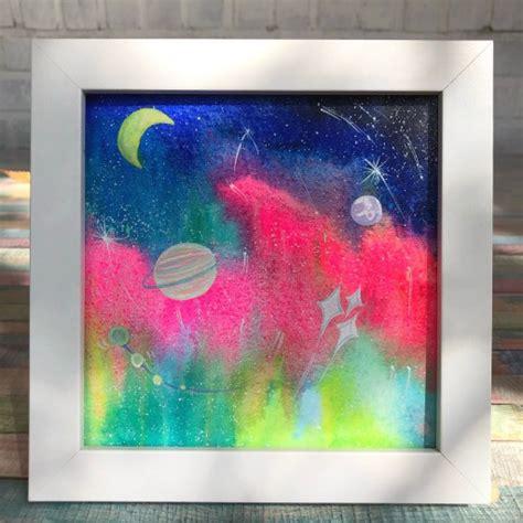 오로라시리즈, 우주 속 오로라 수채화 그림🌌 | 아이디어스