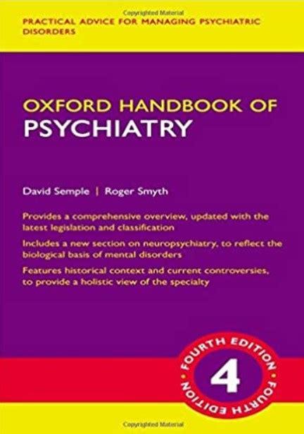 Oxford Handbook of Psychiatry 4th Edition PDF Free