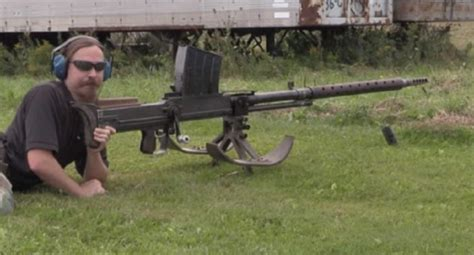 The 20mm Lahti L39 Anti Tank Rifle from WWII is an