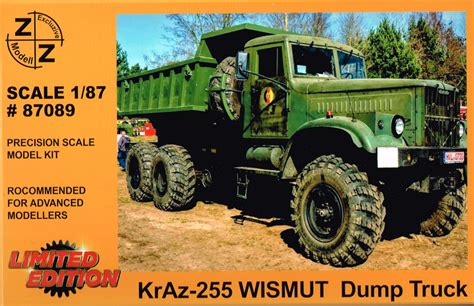 Kraz-255 Hinterkipper, Ballonreifen, NVA - Bausatz   LKW