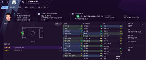 FootballManager 2021 맨시티 선수단 능력치(어빌/포텐) 정리 - 와드