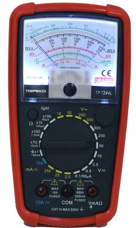 Analog Multimeter TP7244L, analog meter with back light