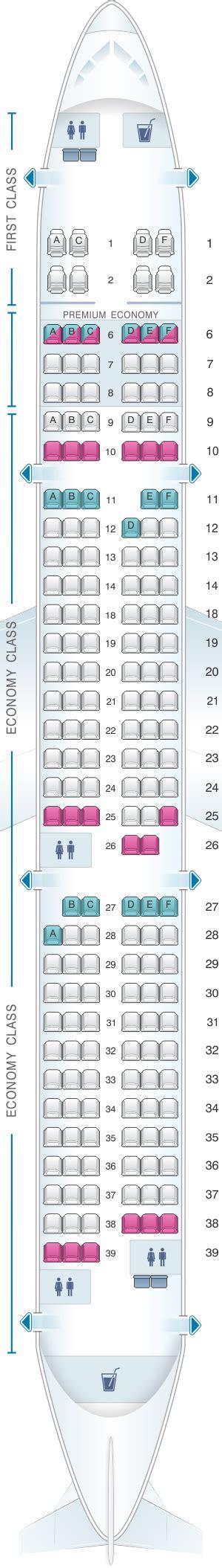 Seat Map Alaska Airlines - Horizon Air Airbus A321 NEO
