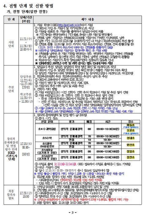 2019학년도 서울 강동송파교육지원청 영재교육원 모집요강-초등