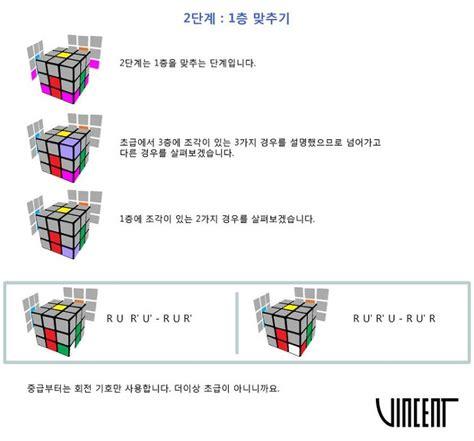 Samuel's Life :: 3x3x3 중급 해법 2단계 - 1층 맞추기